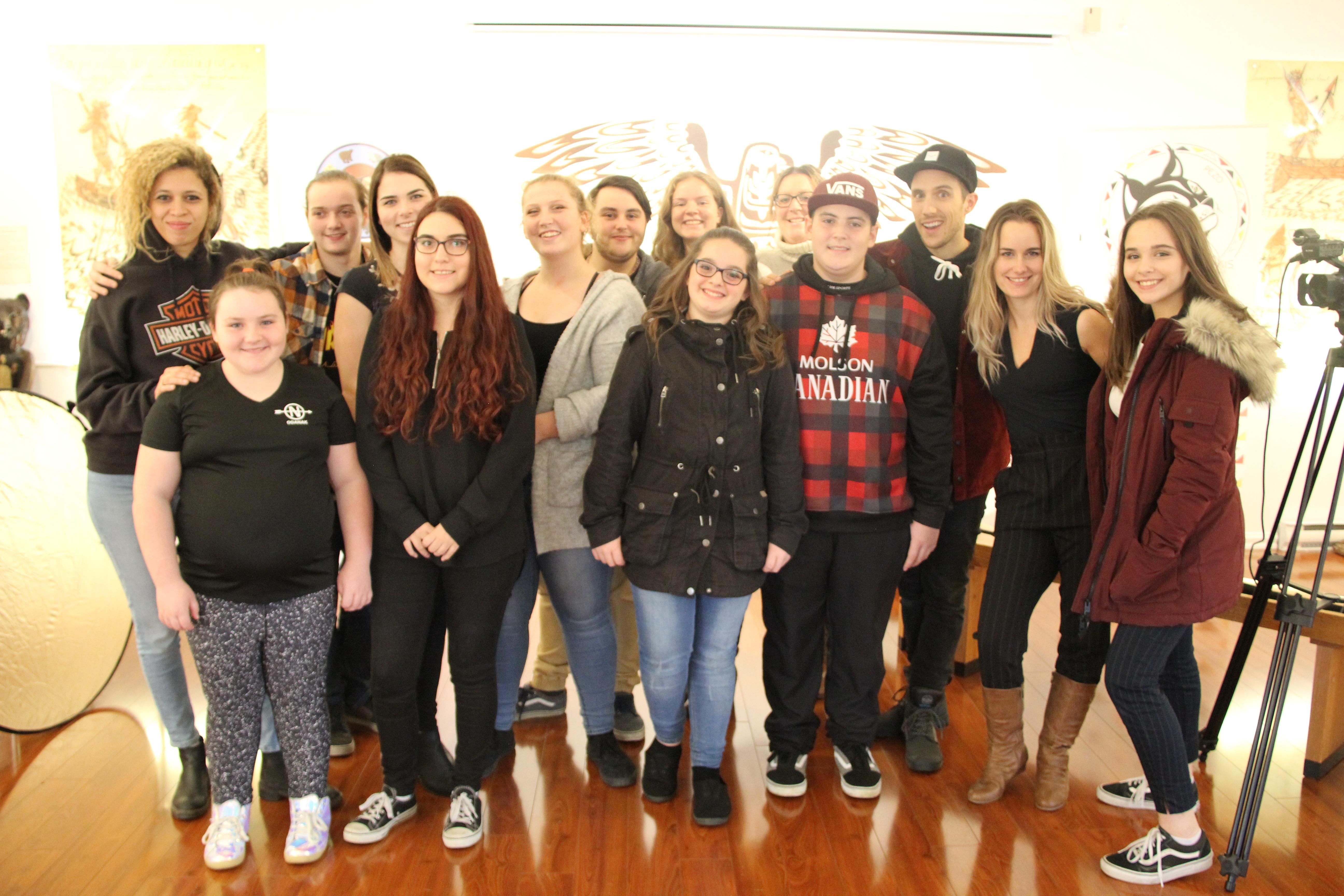 Quelques-uns des jeunes participant au projet Niona.