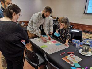 Les participants francophones lors d'un des ateliers de la formation sur la gestion de projet et le réseautage.