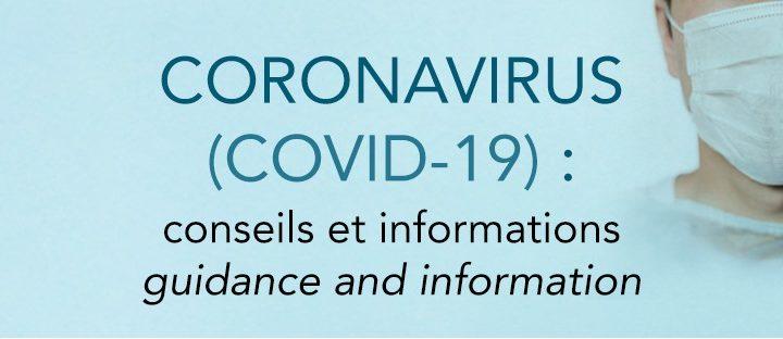 Coronavirus (COVID-19) : Conseils et informations