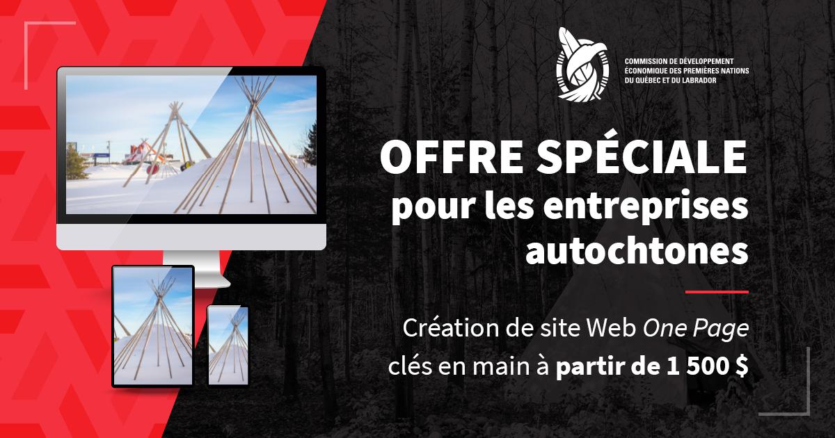 La CDEPNQL offre aux entreprises autochtones d'améliorer leur présence en ligne grâce à un site Web professionnel clés en main disponible pour aussi peu que 1 500 $.