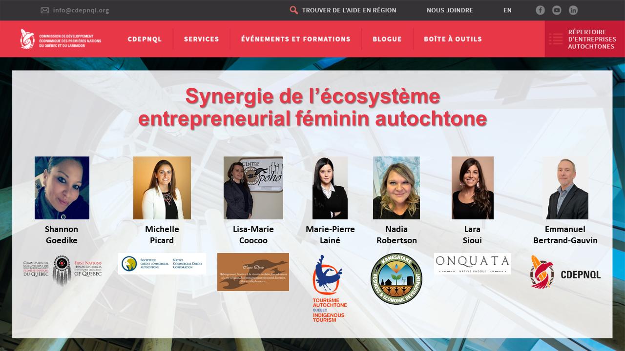 Synergie de l'écosystème entrepreneurial féminin autochtone